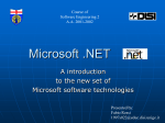Introducing Microsoft .NET - DISI