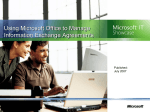 Using Microsoft Office to Manage Information Exchange Agreements