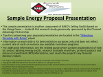 Sample Energy Proposal Presentation - National Association of