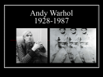 Andy Warhol Powerpoint - Medford Area Middle School