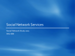 Social Network Services (ppt)