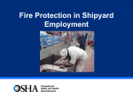 Shipyard Fire Safety - OSHA