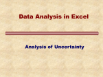 Data Analysis in Excel - Gordon State College