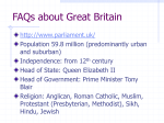 FAQs about Great Britain - People Server at UNCW