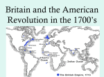 Britain and the American Revolution in the 1700&#39