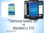 Samsung Galaxy SIII vs Blackberry Z10