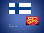 The map of Finland.
