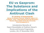 Antitrust: Commission opens proceedings against Gazprom (three