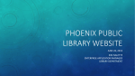Phoenix Public Library Website-Responsive Design