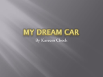 Powerpoint Assignment- My Dream Car