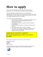 How to apply - The TES