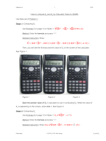 How to compute Se by Calculator Casio fx-350MS