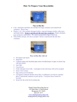 How To Prepare Your Recyclables - Simply Green Recycling Service