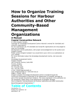 How to Organize Training - Coastal Communities Network