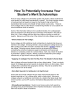 How To Potentially Increase Your Student Merit Scholarships