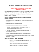 How To Write A Successful Scholarship Personal Statement