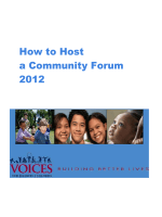 How to Host a Community Forum - Voices for Illinois Children