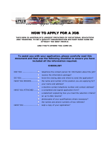 HOW TO APPLY FOR A JOB IN TAFE NSW