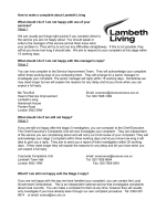 How to make a complaint about Lambeth Living - WhatDoTheyKnow