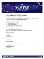 How to Submit Your Nomination