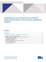 How to submit your Financial Accountability Requirements in the