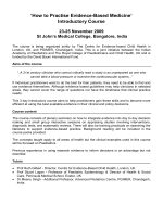 How to Practise Evidence-Based Medicine - Indian Academy of