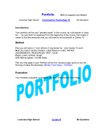 Portfolio (How to organize your binder) - HRSBSTAFF Home Page