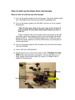 How to start up the Zeiss Axio microscope - UQCCR