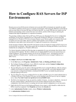 How to Configure RAS Servers for ISPs - Microsoft