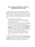 How to Design and Implement an Effective Differentiated - Moodle