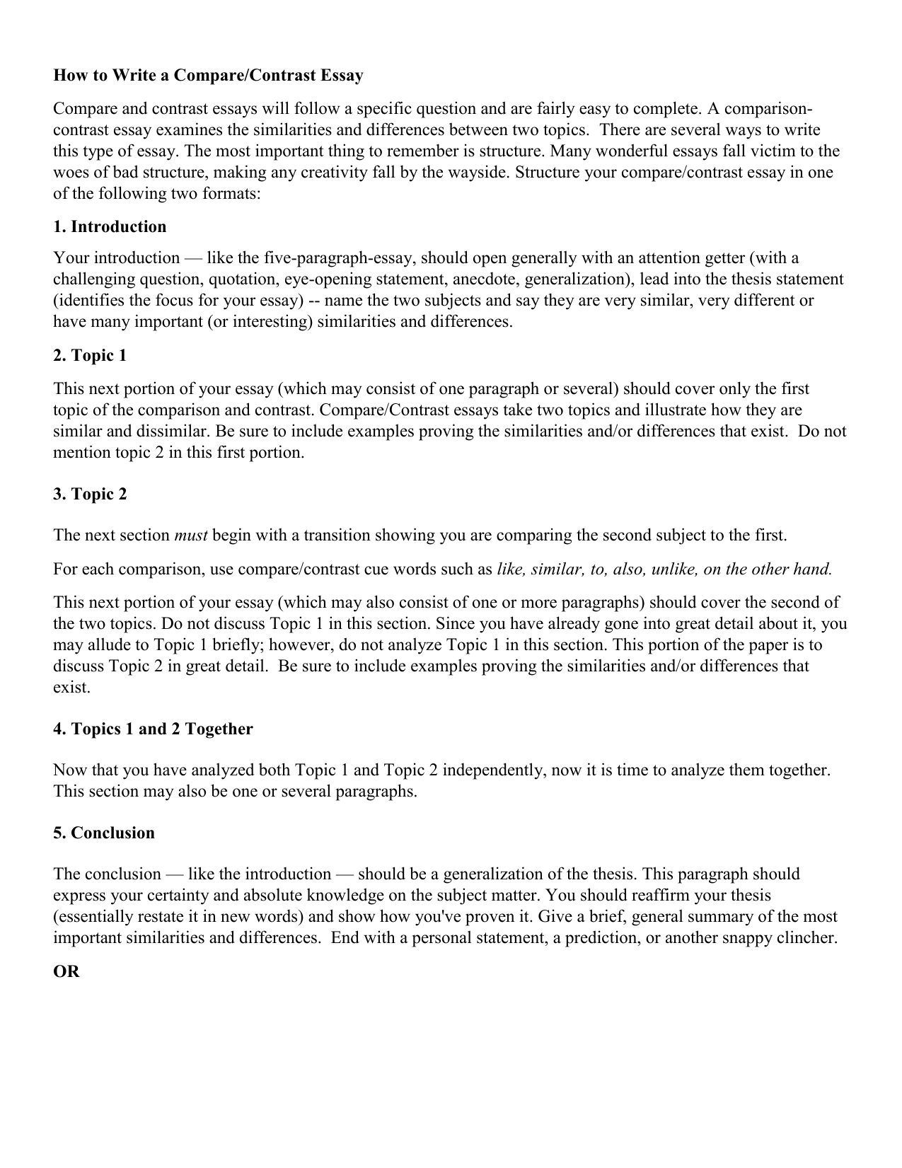 Essay On High School Experience  Argumentative Essay Examples High School also Essays About Business How To Write A Comparecontrast Essay How To Write Science Essay