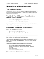 How to Write a Thesis Statement - Info Researching