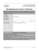 Recommendation on how to proceed - Office of the Chief Information