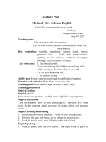 Module How to learn English