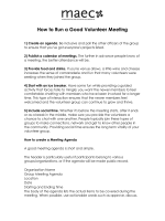 How to Run a Good volunteer Meeting - Arts|Learning