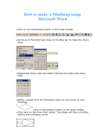 How to make a Mindmap using Microsoft Word - ICWC