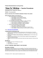 Lesson Plan: Langugage Arts 3-5 How To Writing - ProQuest