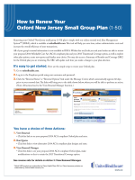 How to Renew Your Oxford New Jersey Small Group Plan (1-50)