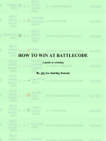 HOW TO WIN AT BATTLECODE - Spenser Skates