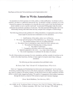 How to Write Annotations - Roosevelt High School