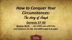 How to Conquer Your Circumstances: The story of Joseph - Clover