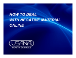 HOW TO DEAL WITH NEGATIVE MATERIAL ONLINE - Usana