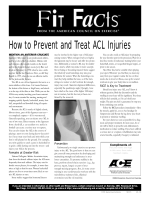 How to Prevent and Treat ACL Injuries - Connect Fitness