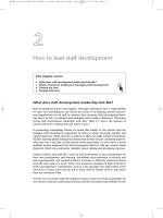 How to lead staff development - Sage