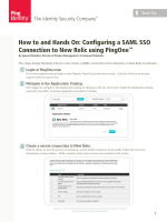 How to and Hands On: Configuring a SAML SSO - New Relic