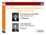 How to Budget for Health Care Reform - Keenan