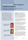 How to Leverage Data Analytics in Healthcare Auditing - ACL