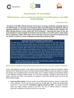 "Policy Briefing - EP lunch debate ""Effort Sharing – how to unlock the"