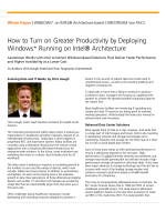 How to Turn on Greater Productivity by Deploying Windows