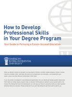 How to Develop Professional Skills in Your Degree Program - AIU